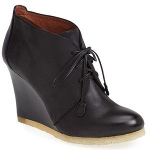 Louise et Cie Montclar Booties in Black Leather